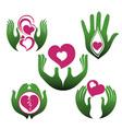 Hand symbols vector