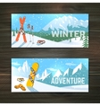 Winter sport tourism banners set vector