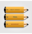 Modern pencil infographics vector