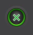 Glossy dark exit button vector