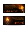 Torch banners set vector