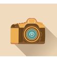 Photo camera retro vector