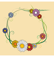 Frame made of spring flowers vector