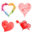 Collect valentines day hearts vector