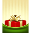 Christmas red box background vector