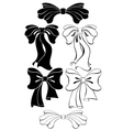 Black bow vector