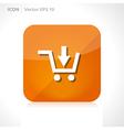 Shop basket icon vector