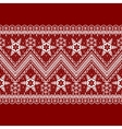 Red background with white pattern vector