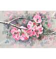 Original painting of flower blooming spring vector
