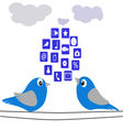 The birds-and-cloud vector