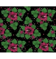 Background pattern from pinck flowers on the black vector
