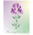 Floral beauty greeting card vector