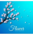 Floral branch background concept vector