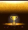 Winner cup with spark rain vector