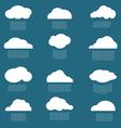 Cloud and rain vector