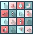 Beauty salon flat icons set vector