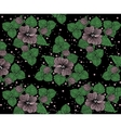 Background pattern from violet flowers on the vector