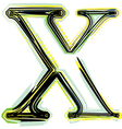 Font letter x vector