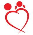 Srce linija zaljubljeni vector