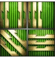 Green background with gold vector