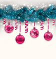 Holiday background with christmas fir branches and vector