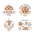 Pizzeria labels badges and design elements vector