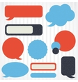 Collection of retro speech bubbles and dialog vector