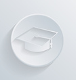 Circle icon with a shadow graduate hat vector