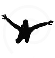 Man silhouette isolated on white background vector
