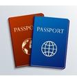 Modern passports set vector