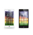 Smart phone weather widgets vector