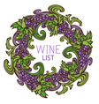 Circle design for wine list vector