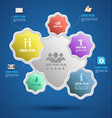 Flower group template with icons vector