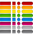 Beautiful blank buttons vector