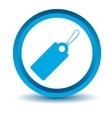 Blue price tag icon vector