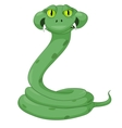 Cartoon character snake vector