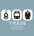 Vintage train collection vector