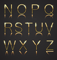 Golden letters with diamonds vector