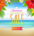 Summer sale card vector