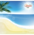 Abstract sea background with white sand vector