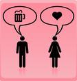 Man woman icon vector