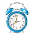 Blue alarm clock isolated on white vector