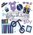 Baby shower set for boy vector