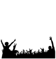 Concert crowd silhouette vector