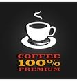 Premium coffee cup label concept menu poster vector