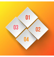 White applique numbers on orange background vector