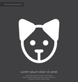 Puppy premium icon white on dark background vector