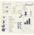 Business ink doodles vector