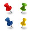 Set colored pins vector