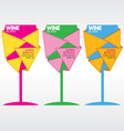 Glass of wine eps10 vector